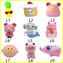 Monkey Movies online shopping - DHL Squishy Toys squishies Rabbit monkey elephant pineapple mouse cake mermaid Slow Rising Squeeze Cute Cell Phone Strap gift for kid toys