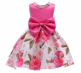 Ingrosso Ragazza Princess Dress Summer 2018 New Big Child Abbigliamento bambini Print Skirt Child Skirtdress childes skirt Child