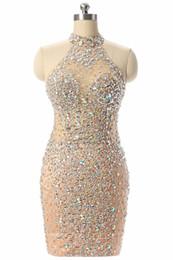 $enCountryForm.capitalKeyWord UK - Luxury Champagne Short Prom Dresses Mermaid 2017 Beading Crystal Imported Party Dress Vestido Formatura Evening Gowns