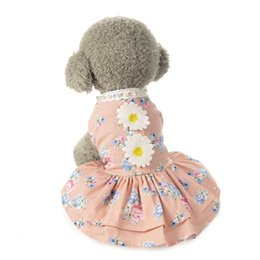Ropa para mascotas falda para mascotas vestido de flores para el sol ropa para perros ropa para perros al por mayor princesa linda vestido de primavera verano