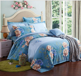 Colorful Printed Bedding NZ - Luxury Beddingoutlet Colorful Skull And Floral Duvet Cover Set 4 Pieces Super Soft Bedclothes Flowers Printed Bedding Set