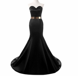$enCountryForm.capitalKeyWord UK - 2018 African Black Girl Prom Dresses Sweetheart Gold Beaded Crystal Sweep Train Mermaid Formal Tulle Party Dress Plus Size Evening Gown Wear