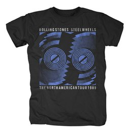 Stone men S clotheS online shopping - THE ROLLING STONES Steel Wheels Tour T Shirt Top Tee Cotton Humor Men Crewneck Tee Shirts Brand Clothes Summer