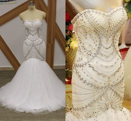 Sweetheart Mermaid Rhinestone Wedding Dresses | DHgate UK