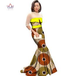 1dd2b8fbc796 African Prints Mermaid Dresses Canada - African Dresses for Women Dashiki  African Print Clothing Half Sleeve