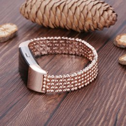 fitbit watches women UK - 2019 Newest Luxury Steel Bead Style Smart Watch Band Fashion Replacement Women Female Wrist Strap Bracelet For Fitbit Charge 2