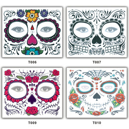 eyeshadow tattoos NZ - Disposable Eyeshadow Sticker Magic Eye Face Lace Style Waterproof Temporary Tattoo For Beauty Makup Stage Halloween Party 2000pcs