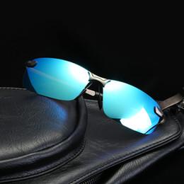 Polarized Metal Sunglasses NZ - Classic Square Polarized Sunglasses Driving Outdoor Sports Rimless Metal Polarized bicycle Sunglasses Male Goggle Oculos de sol