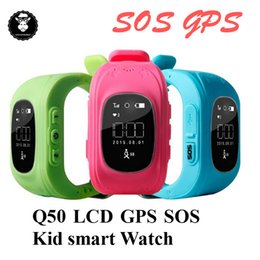 sos watch sim NZ - Kids GPS Tracker Watch Q50 Tracking Smart Watch GPS Security With SIM Card Slot SOS for Kids Children Anti Lost Monitor