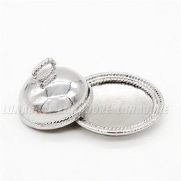 Wholesale Odoria Miniature Vintage Dish with Lid Silver Tray Plate Tableware Kit Dollhouse Kitchen Accessories
