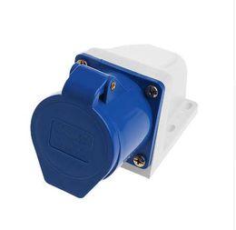 3pin socket 2019 - 1Pc 32 Amp 3pin Industrial Socket 220V-250Volt Weatherproof IP44 Waterproof 2P+E 32A discount 3pin socket