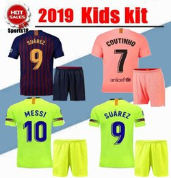 ad6fb069816 Branded jerseys online shopping - 2019 kids kit third VIDAL MESSI SUAREZ  Jersey soccer home away