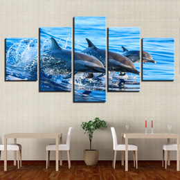 Art Canvas Prints Australia - Modern Frames For Paintings Decor Canvas Art Framework 5 Panel Tree Lake Landscape Prints Wall Modular Picture Kids Room Poster