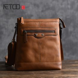 6096619ad78c japanese shoulder bags 2018 - AETOO New men s leather shoulder bag first  layer cowhide Japanese and