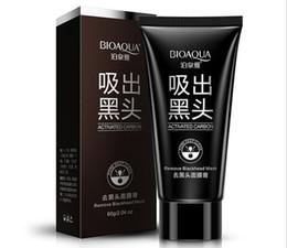 Nose Pores Remove Australia - BIOAQUA Deep Cleansing Black mud face mask Remove blackhead facial mask strawberry nose Acne remover Face care