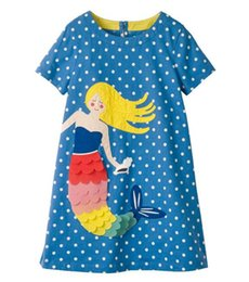Cartoon Stamping Australia - New children girl fashion dress 3colour cotta stamp dress lovable cartoon girl dress A06