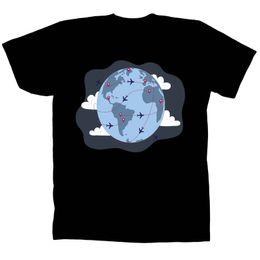 $enCountryForm.capitalKeyWord UK - Just Go Travel In The World Man and Woman's Black T-Shirt Tee V153