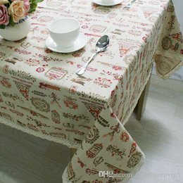 Square Table Cloths NZ - Christmas Theme Linen Table Cloth with Lace Reindeer Print Multifunctional Tablecloths Table Cover X'mas Decor ZB-17