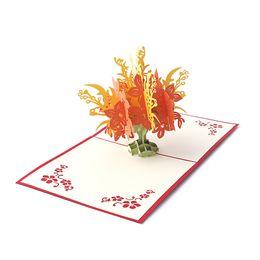 Shop flower pop up card uk flower pop up card free delivery to uk flower pop up card uk creative 3d pop up holiday greeting card flower tree christmas m4hsunfo