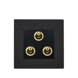 Toggle swiTch way online shopping - Black color magnalium panel wall switch and A light switch and gang way way toggle switch