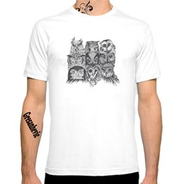 personalized shirt printing NZ - 2020 New Nine Owls 2020 New Fashion Women Men Cotton O Neck Short Sleeve Print Casual T-Shirts loose Personalized unique Tees Wholesale
