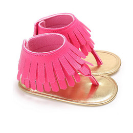 24a9a1ab9856c Toddler Baby Girls kids clothes casual Tassel Shoes Newborn Soft Cirb Sole  Anti-slip PU Leather Sneakers Sandals one pairs