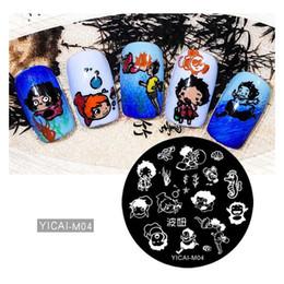 $enCountryForm.capitalKeyWord NZ - Round Nail Stamping Plate Cartoon Girl Animals DIY 5.5cm Template Manicure Nail Art Image Plate