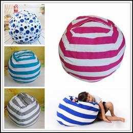 Discount chair cushion cartoon - 5 Colors Beanbag Chair Plush Toys Storage Bean Bags Kids Bedroom Play Mats Portable Couch Cushion Creative Clothes Stora