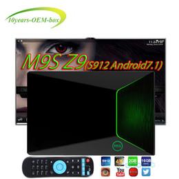 Android Box Tv 16g Canada - Hot OEM M9S Z9 5ghz wifi 1000M LAN TV Box Amlogic S912 Octa core Android 7.1 2G+16G Bluetooth4.0 Medium Player android ott tv box iptv box