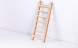 Wholesale Small Wooden Ladder Landscape Decoration Ornament Fairy Garden Doll House