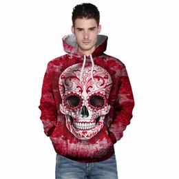 $enCountryForm.capitalKeyWord UK - Wholesale free Fashion Men Women Colorful Skull Floral 3D Printed Sublimation Hooded Hoodies Couple Sweatshirt Plus size 3XL