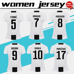 Women football uniform online shopping - Women Juventus home Soccer Jerseys Juventus RONALDO Women soccer Shirts lady Football uniforms DYBALA girl jersey
