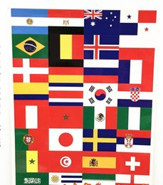 football germany Canada - World Cup Flag Sticker Top 32 Face Stickers Football Countries Flags Decals Soccer 32 Teams Decal Germany Spain Brazil
