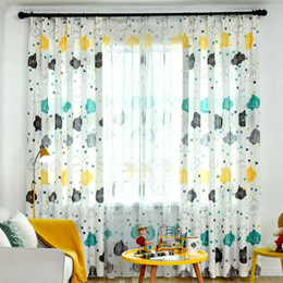 $enCountryForm.capitalKeyWord NZ - Children Room Blackout Curtains Cartoon Cloud Letter Design for Kids Baby Room Modern Printed Living Room Window Curtain Drapes