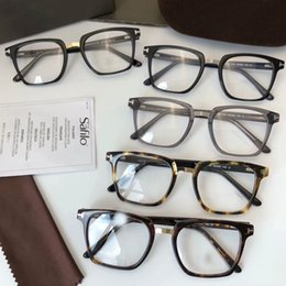 a39a8512d20 Discount new male spectacles frame - Square Glasses Eyeglasses TF5523B  Havana Frames size52 20 145 spectacle