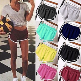 Discount hottest girl yoga pants - 2017 Casual Women Girls Sports Yoga Gym Running Shorts Summer Beach Workout Hot Pants Yoga Shorts For Women