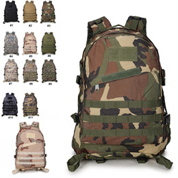 Waterproof army bags online shopping - Backpacks Camo Military Army Double Shoulder Tactical Backbag Waterproof D Tourist Rucksack Climbing Bag Support FBA Drop Shipping G576F