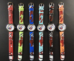Wholesale Fashion D Cartoon children Students Watch Silicone Spiderman Princess Quartz watch Cartoon Car Butterfly dolphin Kid watches christmas gift