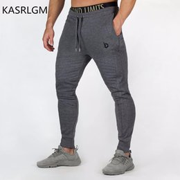 tight exercise pants 2019 - 2017 men's fitness pants casual stretch cotton men's fitness exercise embroidered tights, sports pants jogging