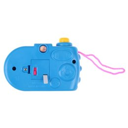 Children Toy Camera Australia - New Baby Kids Projection Camera Toy Fun LED Light Projection Animal Pattern Educational Study Toys for Children Random Color