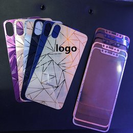 082d4d4ea9e 3D Diamond rose gold Mirror Tempered Glass Protector de pantalla completa  película de pegatina para iphone x 4s 5 se 6 6s plus 7 8 plus