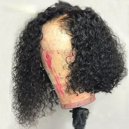 $enCountryForm.capitalKeyWord Australia - Lace Frontal Wig Pre Plucked With Baby Hair Brazilian Deep Curly Remy Lace Front Human Hair Wigs For Women