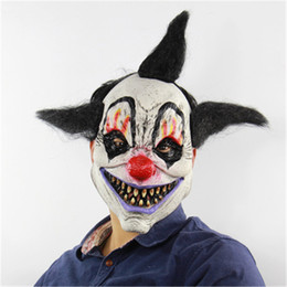 Full Face Clown Mask Australia - 1PC Party Masks halloween scary Sorcerer Clown Halloween Props Ghost Latex Clown Mask Full Face scary mask halloween for adults