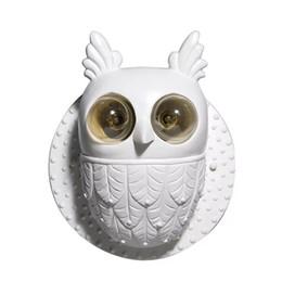 $enCountryForm.capitalKeyWord UK - Modern Wall Lamps Edison Bulbs Resin Material Bedroom Living Room Art Decorative Wall Sconce Luxury Fashion Owl Design White Wall Light