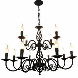 Black wrought iron candle chandelier australia new featured black luxury rustic wrought iron chandelier e14 candle black vintage antique home chandeliers for living room european lamp zg8042 aloadofball Images