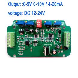 Venta al por mayor de Freeshipping 0-5V 0-10V 4-20MA Sensor de celda de carga Amplificador Pesaje Transmisor voltaje convertidor de corriente Voltaje de trabajo: DC 12-24V