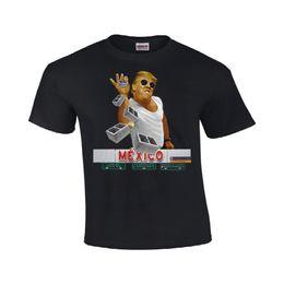 Venta al por mayor de Donald Trump México Camiseta de pared para hombre Tallas # 137 Mens 2018 marca de moda Camiseta O-cuello 100% algodón
