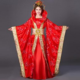 Queen Stage Costumes NZ - China Ancient Queen Clothing Trailing Concubines Princess Dress Women Floral Stage Performance Clothes Tang Dynasty Costume