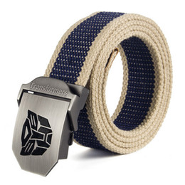 $enCountryForm.capitalKeyWord NZ - luxury mens Canvas belt skull Metal tactics woven belt canvas Casual pants Cool wild gift for men belts large size 160 cm