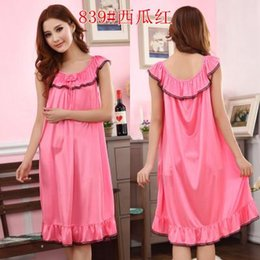 Wholesale- 3XL 4XL Cool Summer Sexy SilkNight Dress Sleeveless Nighties  O-neck Nightgown Plus Size Nightdress Sleepwear Nightwear For Women 0eab27a9624a